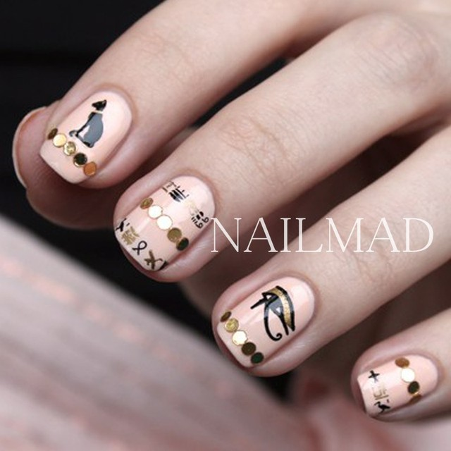 1 sheet NailMAD Horus Egyptian Nail Art Sticker Egyptian Eye of Horus 3D Nail Sticker Sphinx Nail Sticker 6