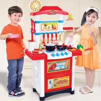 87CM Large Simulation Cooker Kitchenware Food Sets Pretend Play Kids Kitchen Toys Tablet for Children Girls Boys Birthday Gift3+
