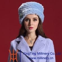Free Shipping Fashion Women Fur Winter Hats Fashion Dress Warm and Comfortable Soft Fit Joker Leisure Cap and Elegant Woman