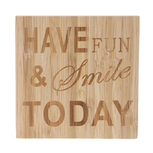 Have Fun Smile Today Wooden Sign Wedding Home Table Desk Decor Ornament Craft