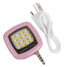 Lights Lighting - Novelty Lighting - Cell Phone Camera Fill Light Mini 3.5mm Smartphone Portable 16 Leds LED Flash Fill Light For IPhone IOS Android #KF