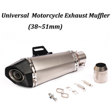 38~51mm Motorcycle Exhaust Muffler Modified CNC With AK Laser Moto Tail Pipe For FZ1N FZ8N FZ8 MT-09 MT-07 BN600 TMAX530