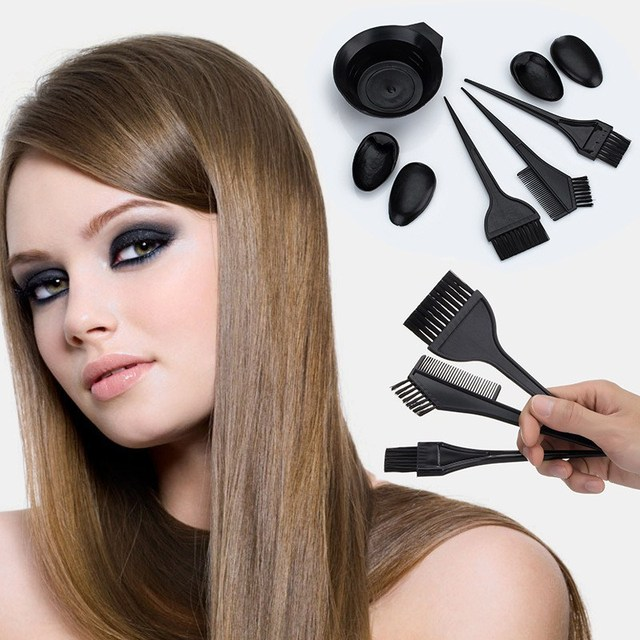 1 set Hair Color Mixing Bowls with 3 brushes Plastic Hair Tools Hair ...