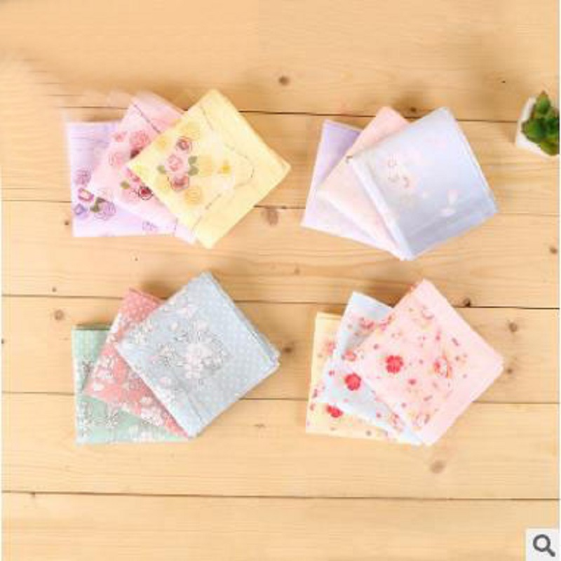 12pcs 45*45cm New 100% Cotton Handkerchiefs Business Women Handkerchief