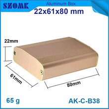 10pcs/lot customized and anodizing aluminium profiles small switch case for electronics 22*61*80mm