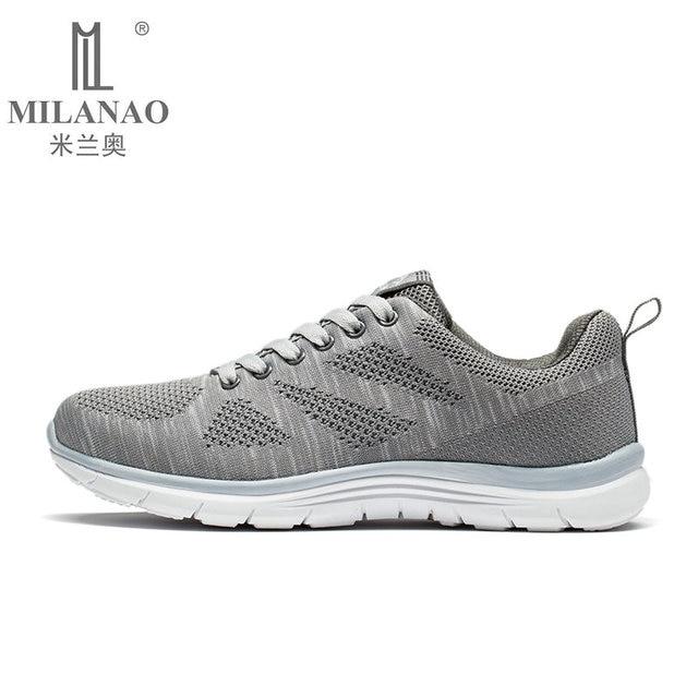 MILANAO New Sports Flyknit Racer Running Shoes For Men   Women . Breathable  Men s Athletic Sneakers Krasovki zapatillas  318404ce1