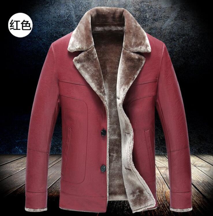 S--3XL  HOT 2018  Winter Men New Leisure Fashion  Sheepskin Fur One Jacket