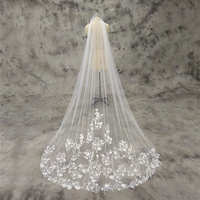 White Ivory Simple One Layer Lace Wedding Veil With Comb Velos De Novia Wedding Accessaries