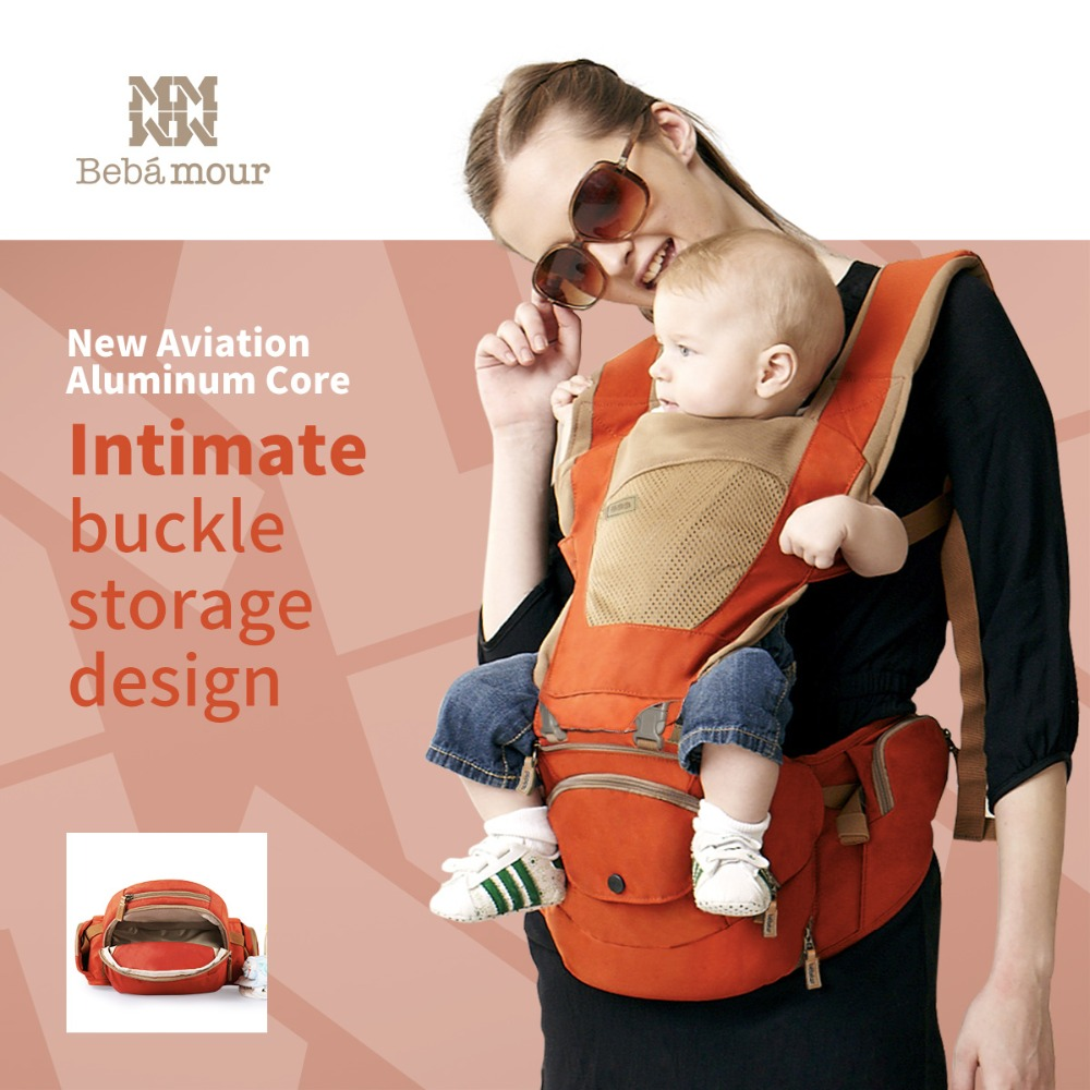 Bebamour Official Store Baby Kangaroo Baby Bag Hipseat Baby Sling Backpack Carrying Children Mochila Ergonomica Portabebe Baby 360 Carrier