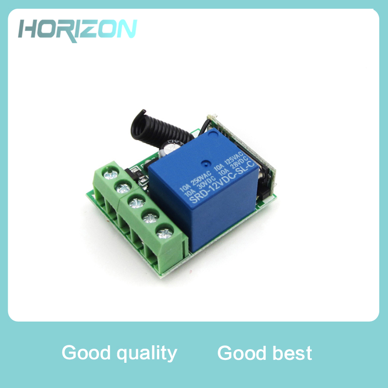 New DC12V 10A 1 Channel Receiver Wireless Relay RF Remote Control Switch DIY Module 433MHZ цена и фото