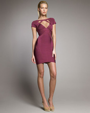 Hot Selling Elastic Knitted Bandage Dress H195 Fashion sexy ladies designer dress