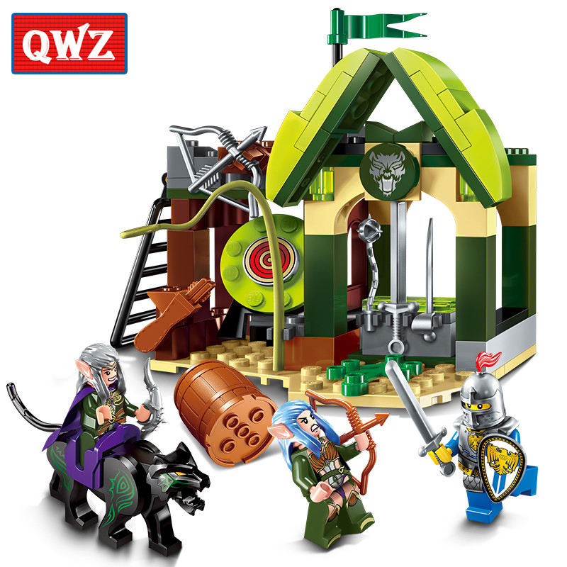 QWZ Nexo Elves K Range War of Castle Knights Building Blocks Bricks Model for children Kids boys Toys Compatible With Legoings
