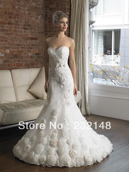 affordable strapless mermaid flower nice designer luxury flower mermaid wedding dresschina mainland