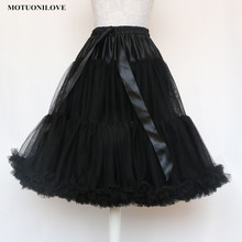 Lolita Petticoat Woman Short Mini Underskirt Rockabilly Ruffle Tulle Black White Red Stock Tutu Skirt Cosplay For Cocktail Dress(China)