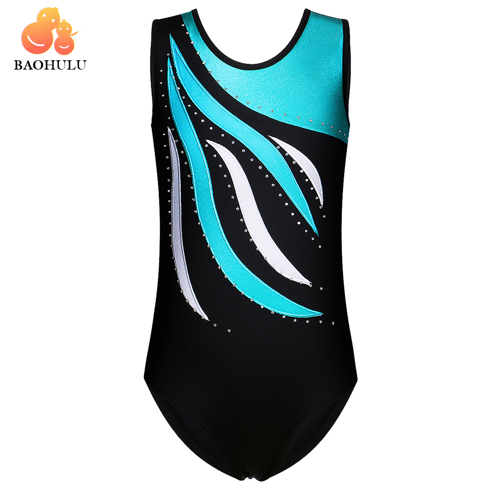 BAOHULU Toddler Teens Ballet Skate Gymnastics Leotard Girls Child Dance Costume Gymnastic Jumpsuit Athletic Acrobatics for Kids недорго, оригинальная цена