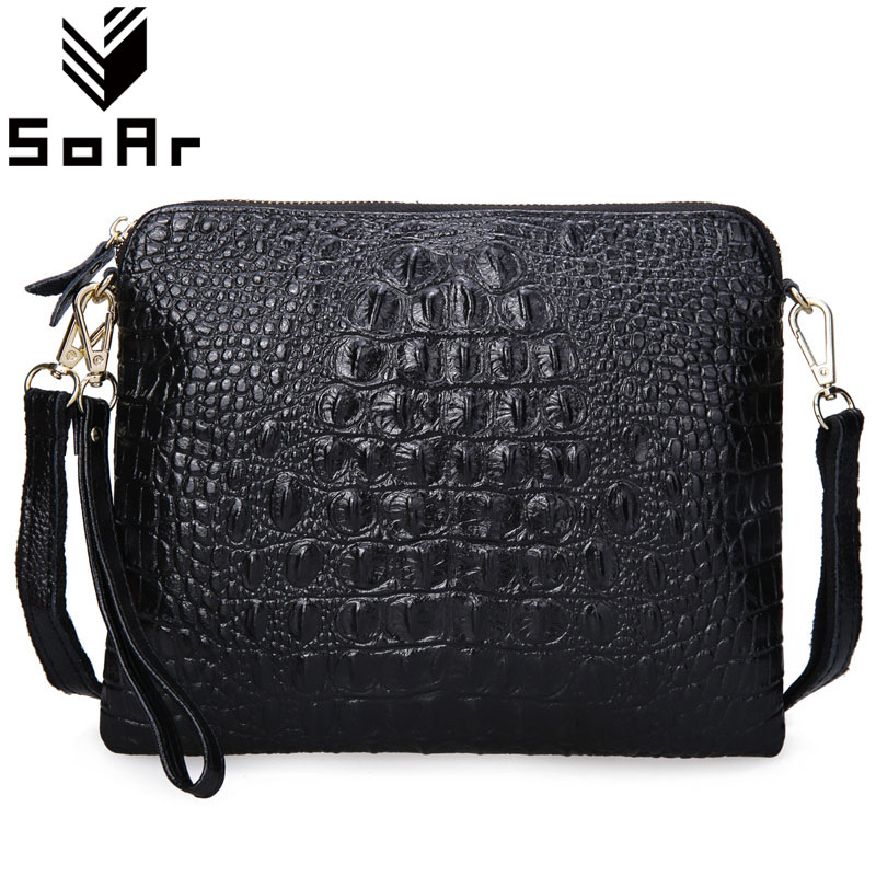 SoAr Women Messenger Bags Clutch Crossbody Bags Ladies' Genuine Leather Handbag Crocodile Shoulder Bags Fashion Alligator Female british import 24 colors gouache paint painter special 24 colors water gouache pigment set advertising pigment
