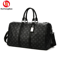 Man Travelling Luggage Traveling Duffel Bag Super Capacity Business Men Travel Bags Tourism Black Lattice Handbag Poker Pattern