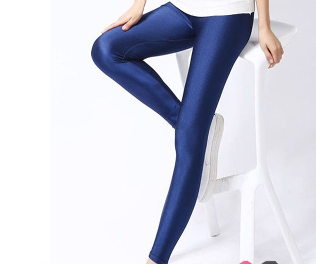 91e44ad15ad4af Neon navy Yellow black Fuschia pink red skyblue dark grey purple Yoga Leggings  Skinny girls sporty fitness workout tight legging