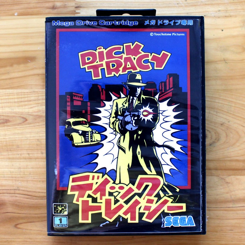 Dick Tracy 16 Bit SEGA MD Game Card With Retail Box For Sega Mega Drive For Genesis