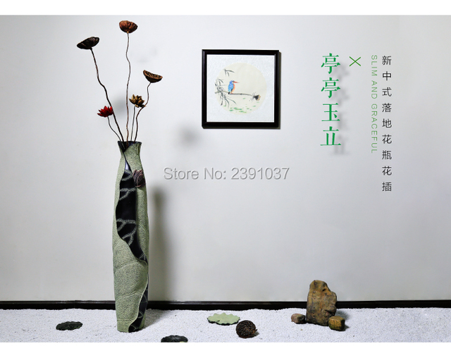 Modern Chinese style   resin vases Dining Table Vase Decoration, retro European style living room furniture decoration