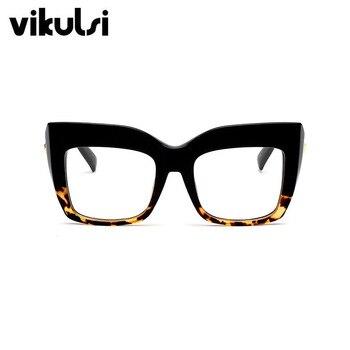 Fashion Ladies Oversized Cat Eye Sunglasses Women Vintage Luxury Brand Designer Big Frame Clear Sun Glasses 1