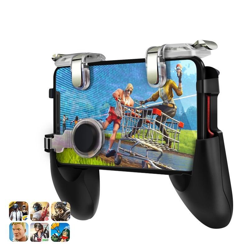 Données Grenouille Pour Pubg Jeu Gamepad Pour téléphone portable manette de jeu l1r1 Shooter Trigger Feu Bouton Pour IPhone Pour Couteaux Sur