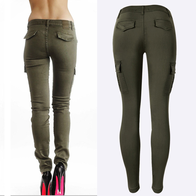 Low Waisted Sports Cargo Pants Sweatpants For Women Slim Joggers Women Trousers Plus Size Military Army Camouflage Female Pants 4