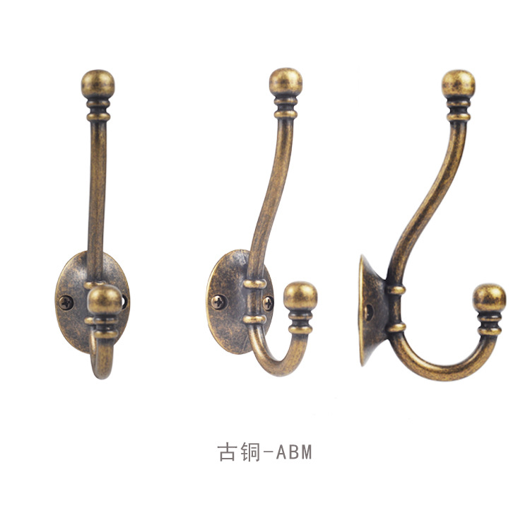 Vintage Antique Zinc Alloy Door Bedroom Hooks Hanger Hook for Clothes Coat Hat Bag Towel Hanger Bathroom Wall Hook Rack in Robe Hooks from Home Improvement