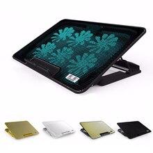 Новый 6 Вентиляторов с Регулируемой Скоростью/Высота Охлаждающая подставка для Ноутбука 2 USB LED Ноутбук Подставка USB Ноутбук Вентилятор Cooler для Compute ПК 10-17′