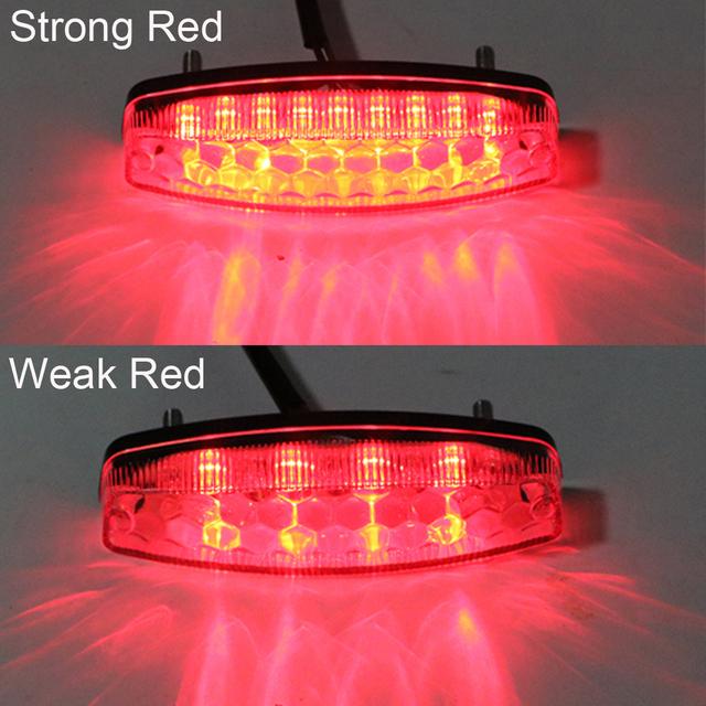 iTimo Moto Tail Brake Light LED Rear Lights Cafe Racer Indicator Lamp Motorcycle Lighting For ATV Quad Kart