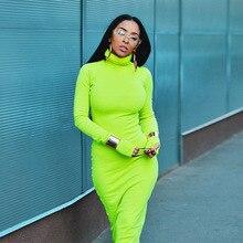Women Spring Autumn New Fashion Dress Bodycon Woman Slim Sexy Maxi Ladies Long-sleeve Ankle-length Sheath Hot Selling