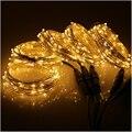 5*10 м/33FF 100 LED подключаемые наружные рождественские Звездные огни серебряная проволока для помещений праздничные гирлянды 500 LED + адаптер пита...