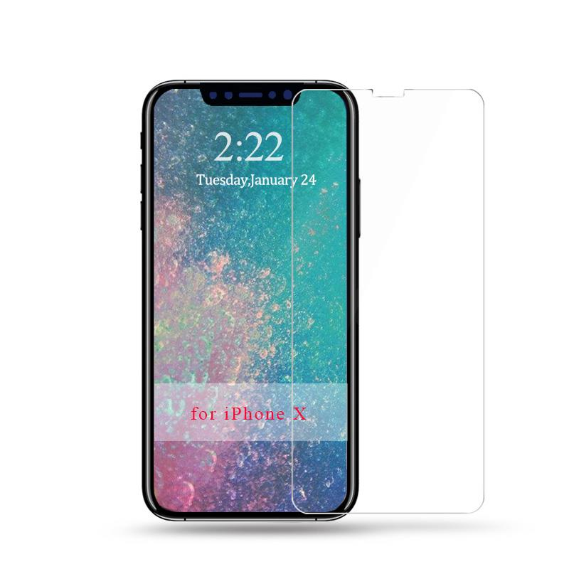 HTB1v2UVdYsTMeJjy1zbq6AhlVXan - 9H tempered glass For iphone XR XS X 8 4s 5s 5c SE 6 6s plus 7 plus screen protector protective guard film case cover+clean kits