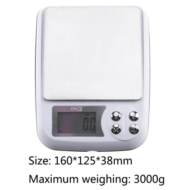 vktech 3000g x 0 1g lcd display pocket digital scale electronic