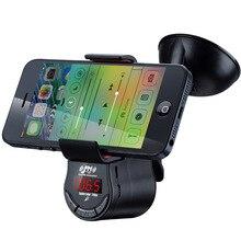 Многофункциональный Автомобильный FM передатчик телефона держателя MP3 аудио плеер Bluetooth беспроводной FM модулятор автомобиль комплект громкой связи ЖК-экран