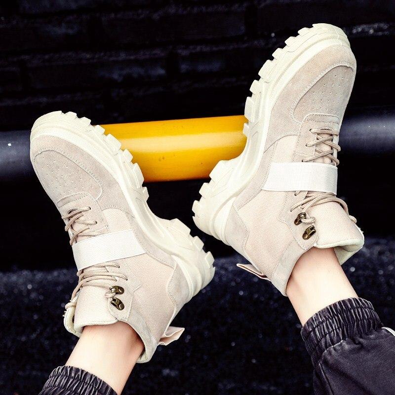 ZSUO/брендовые новые весенние мужские рабочие ботинки; кожаные ковбойские ботильоны в стиле ретро; высококачественные ботинки без застежки; ... - 4