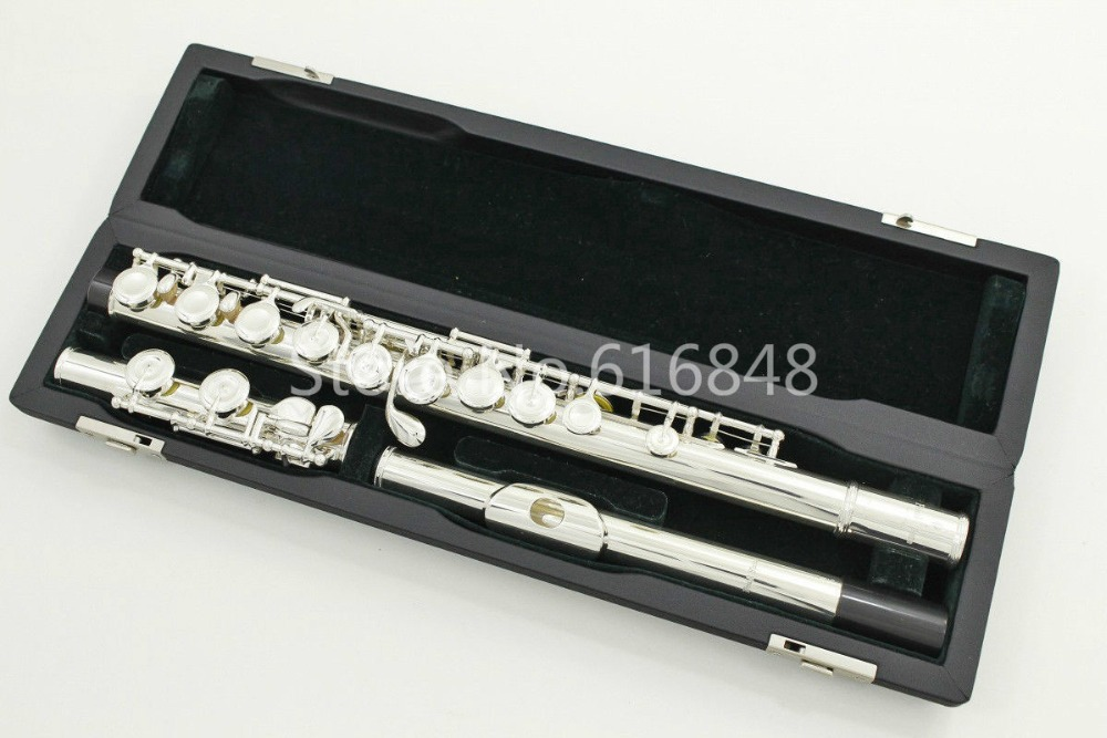 High quality Japan PEARL PF 665 E Flute 16 Keys Closed Holes Musical Instrument C Tune And E Key Flute With Case Free shipping