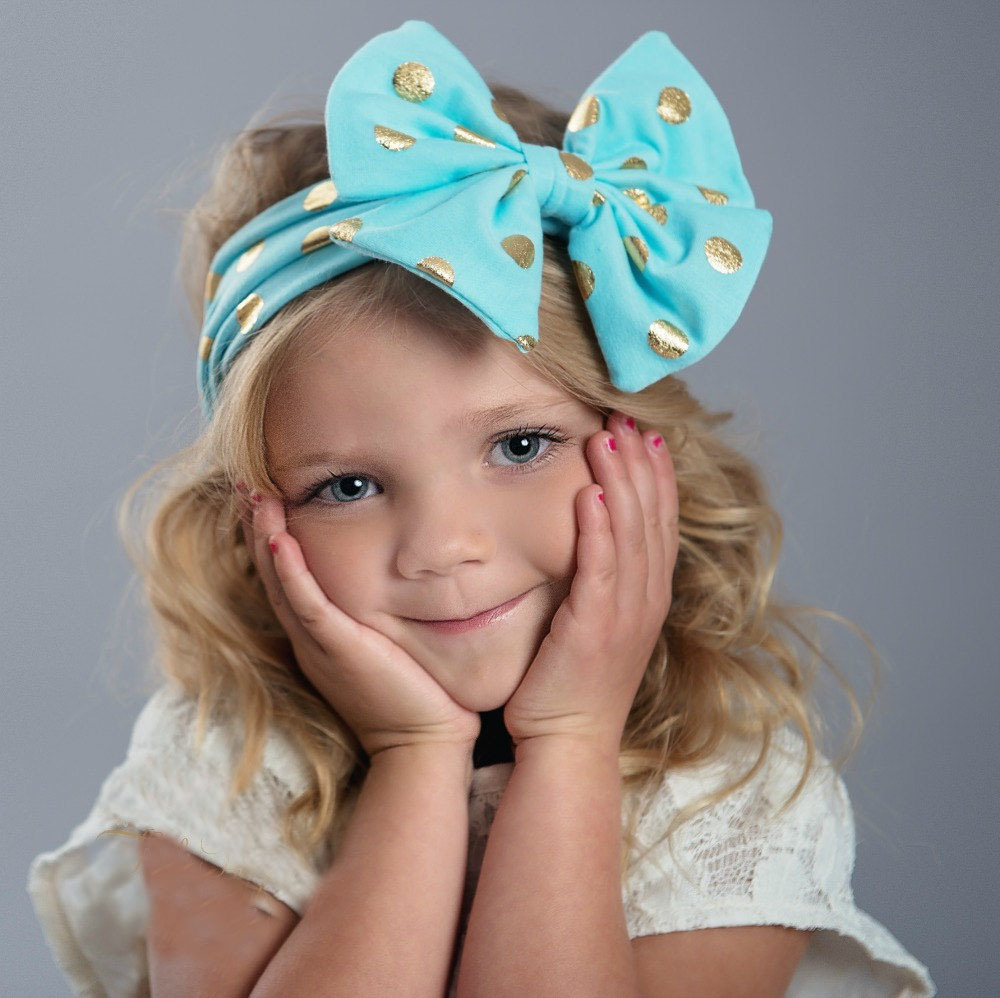 Girls' Clothing United Ruoshui Big Large Lovely Children Headband Hair Accessories For Kids Dot Hair Bow Turban As Gifts Accesorios Para El Cabello To Have A Long Historical Standing