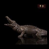 Он был Европейский украшение с животными; подарки; ремесла мебель для дома медь крокодил HD094