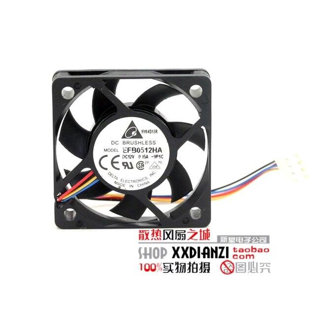 Nova EFB0512HA 5010 velocidade do ventilador 0.15A 5 cm 12 V 3 fios