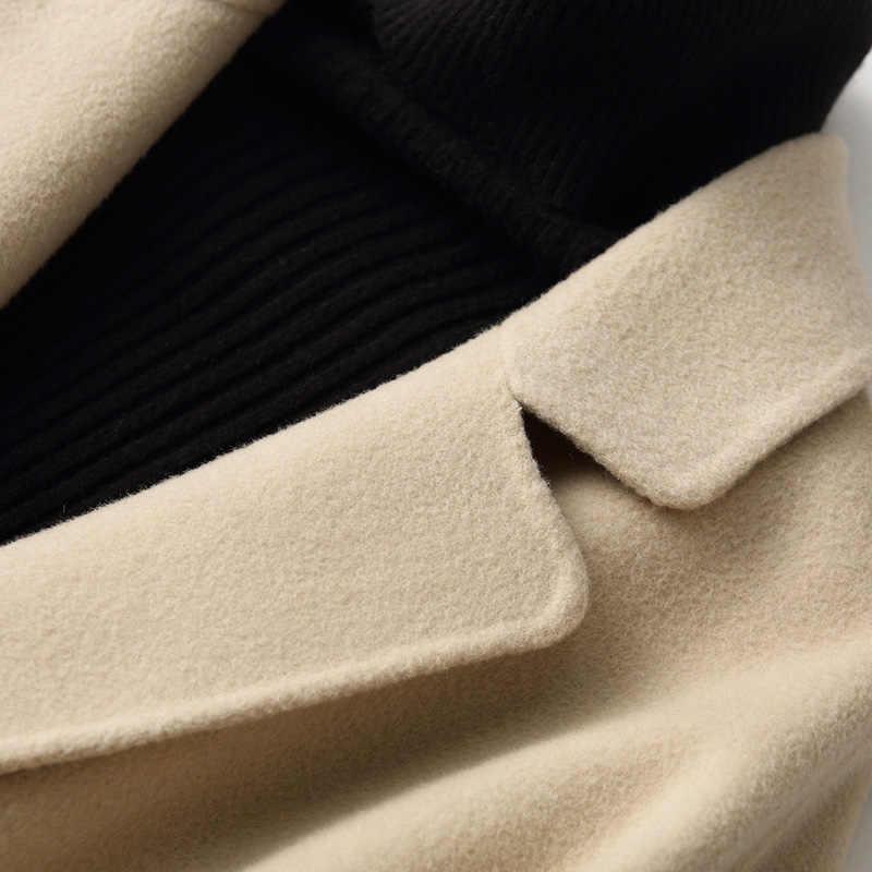 AYUNSUE 2019 двойной шерстяной женское осеннее пальто весенние женские пальто Повседневная Длинная куртка для женщин chaquetas invierno mujer KQN88102
