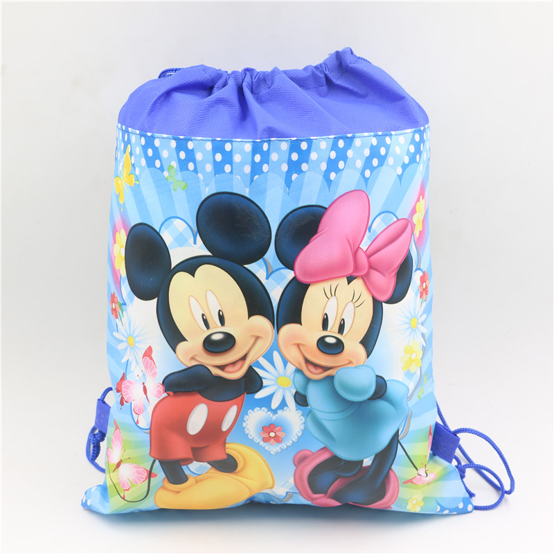 LOT 12 Disney Minnie Mouse Non Woven Sling Bag Backpack Birthday Party Favors