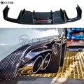 A4 B8.5 S4 углеродное волокно задний бампер диффузор для губ со светодиодными лампами для Audi A4 B8.5 S4 car boby kit 13-16