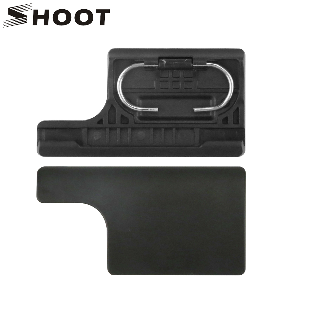 SHOOT Plastic Lock Buckle Clip for Gopro Hero 3+ 4 Black Silver Cam Waterproof Protective Case Cover Mount for Go pro Accessory protective silver plated plastic back case for iphone 4 4s purple silver