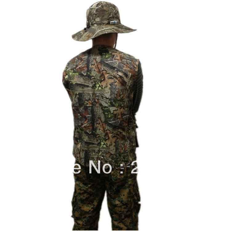 Hunting Gear Jungle Leaf Bionic Camouflage Fishing Vest Waterproof Fishing Waistcoat