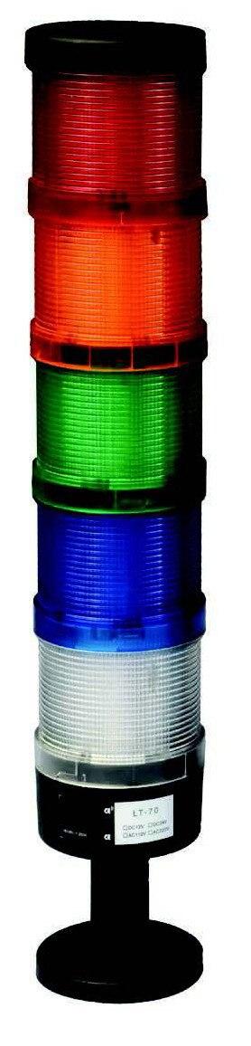 10 Вт 12/24/110/220 V DC 5-слойный чехол светодиодный сигнал светящаяся башня с вышивкой закрытых стежков/промышленная ABS лампа ровного света Предупреждение света(LT-70-5