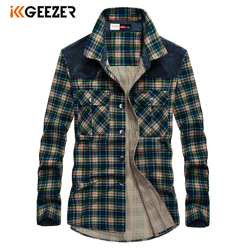 Men Shirt Military Plaid Casual Shirts Army Male Cotton Flannel Luxury Brand High Quality Dress Shirt Long Sleeve Dropshipping