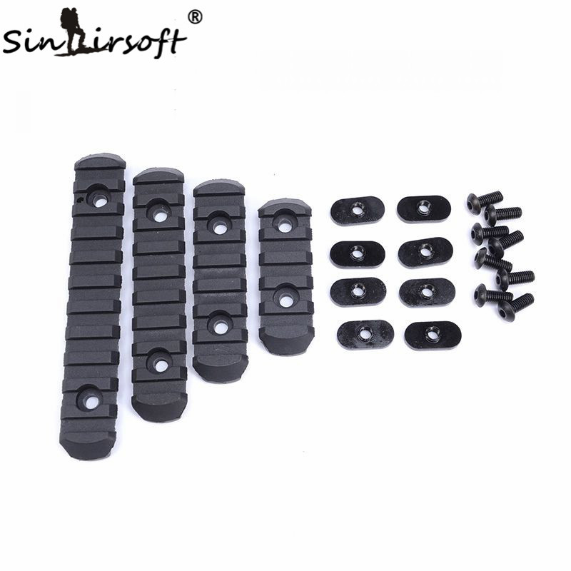 SINAIRSOFT Element 4 Pcs Tactical Airsoft Polymer Picatinny Rail For Shooting Paintball MOE Handguard Laser Scope Hunting