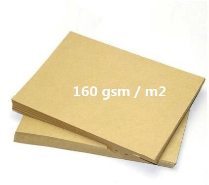 Size A4 160gsm Plain Light Brown Kraft Card Cardstock Papers For Scrapbooking Cardmaking Paper Craft 2/10/30/50pcs