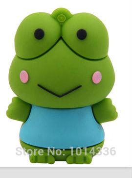 cartoon Green Frog Prince USB Flash Drive Memory Card Stick Thumb/Car key/Pendrive U Disk/creative Gift 2GB 4GB 8GB 16GB 32GB